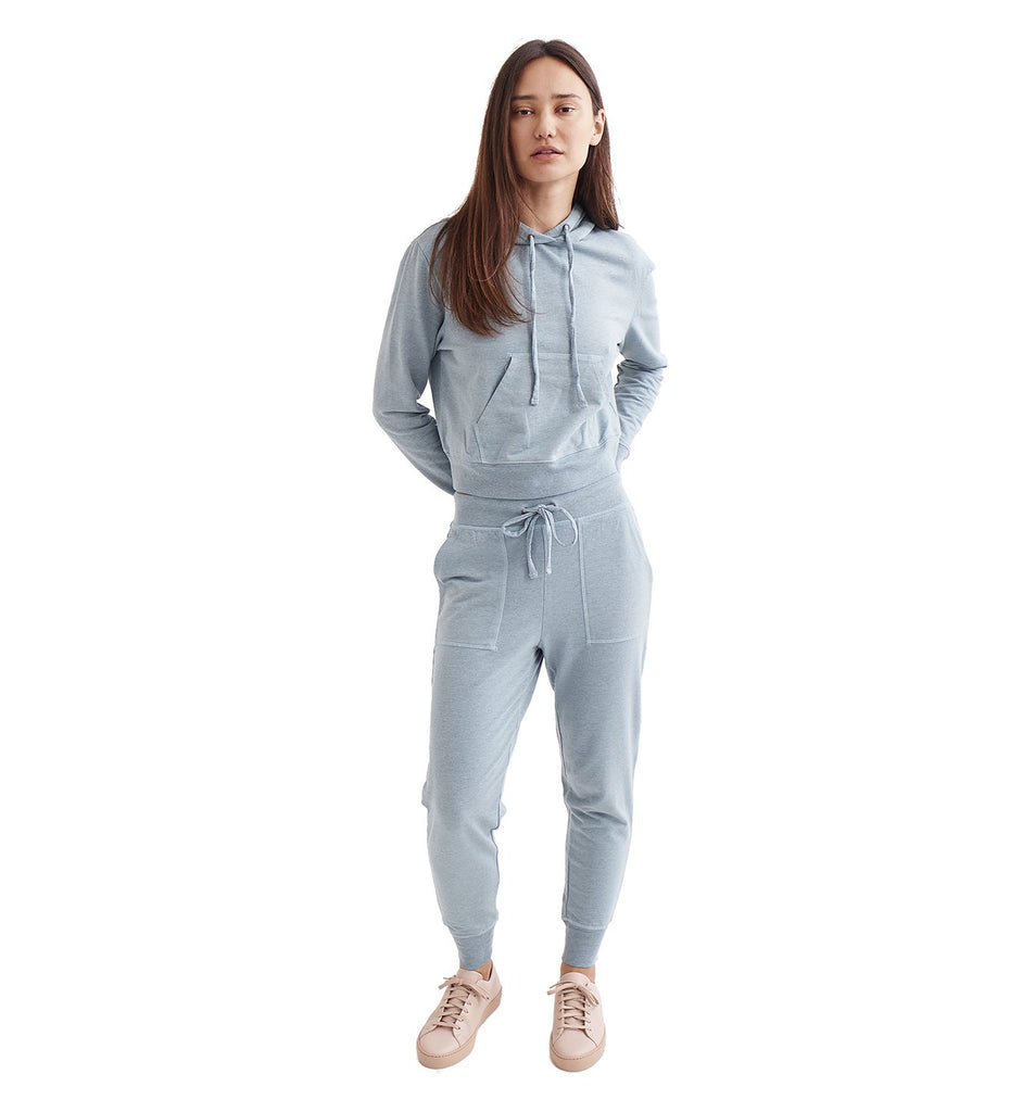 Overdyed Micro Terry Jogger | Cameo Blue