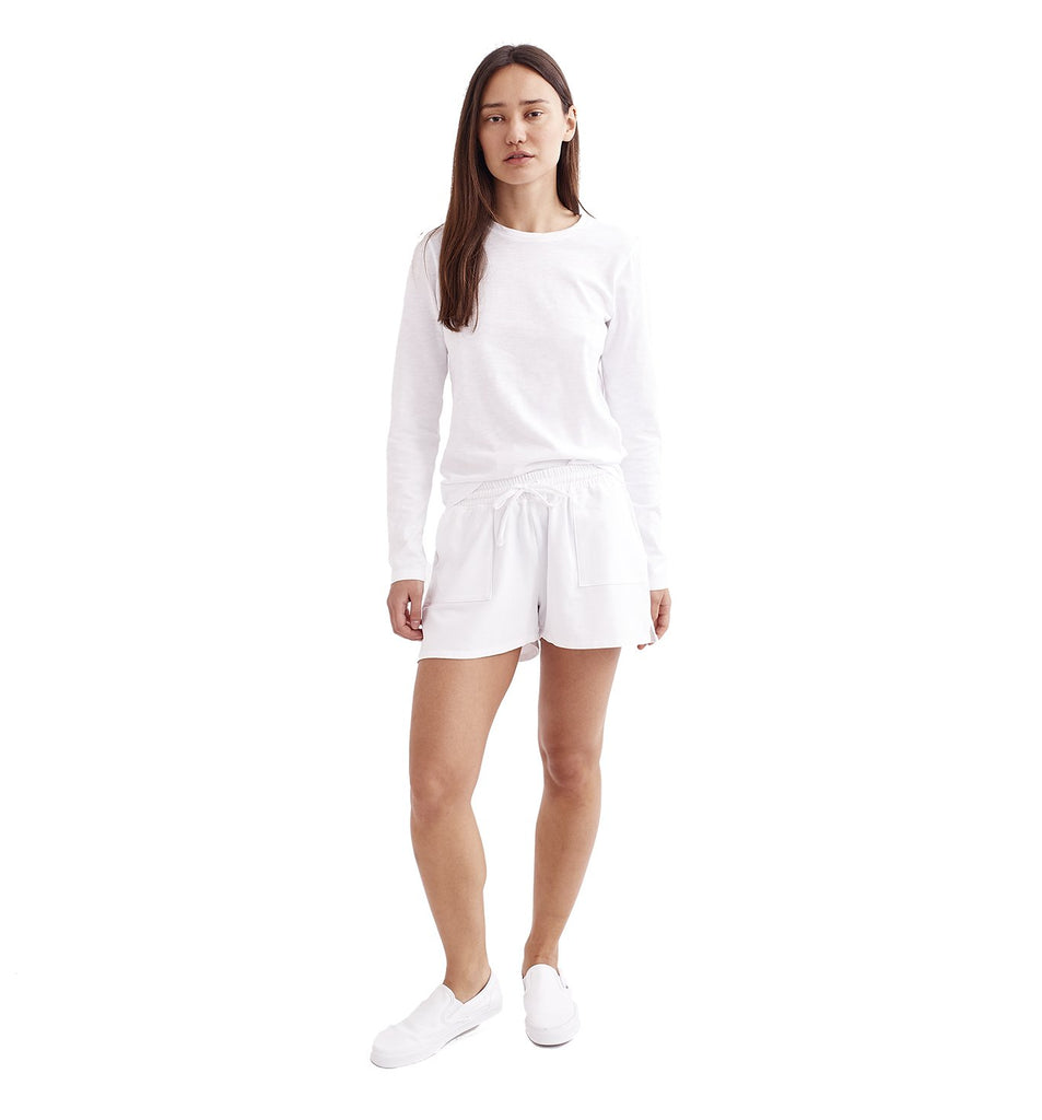 Micro Terry Short | White