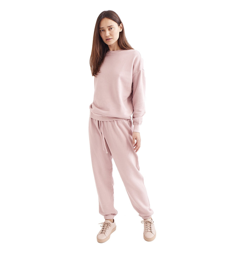 Loop Terry Oversized Sweatpant | Pale Mauve