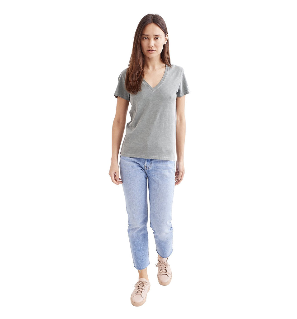 Sun-Faded Slub Everyday V | Laurel