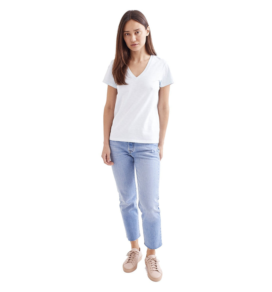 Sun-Faded Slub Everyday V | Cool Blue