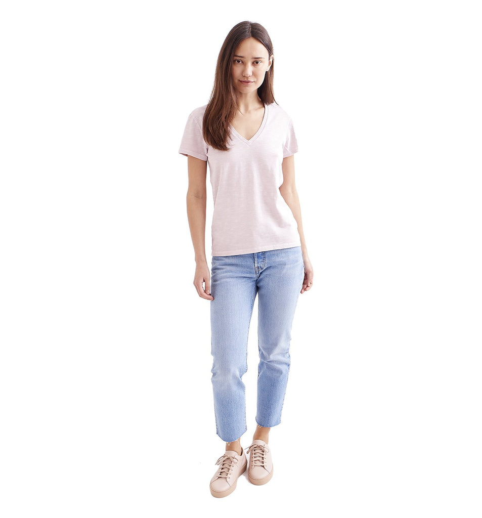 Sun-Faded Slub Everyday V | Pale Mauve