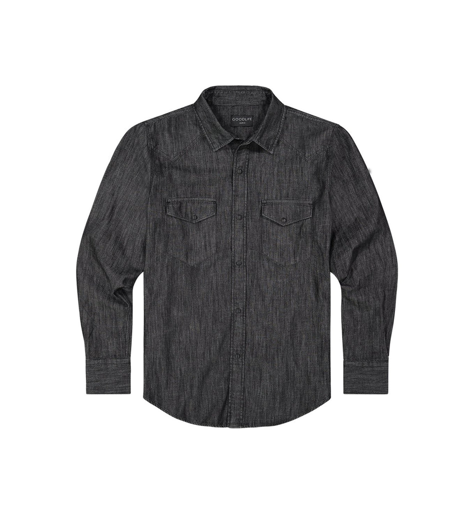 Denim Snap Shirt | Black
