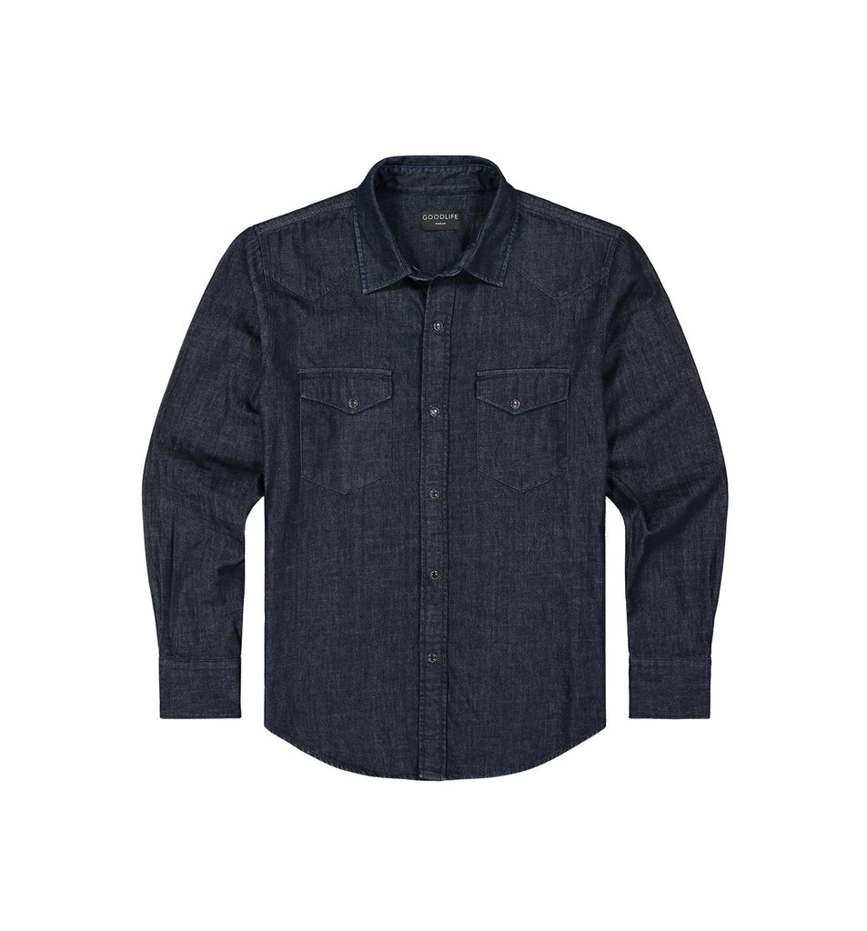 Denim Snap Shirt | Indigo