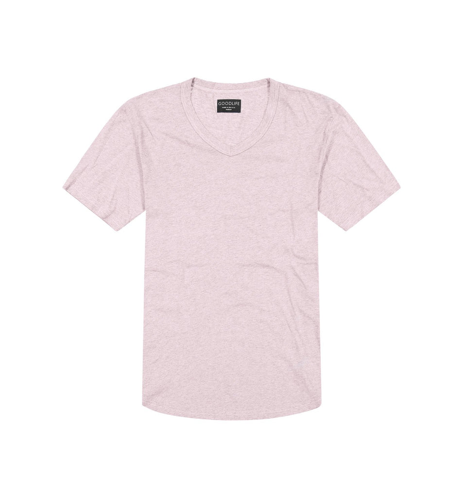 Overdyed Supima Scallop V | Pale Mauve