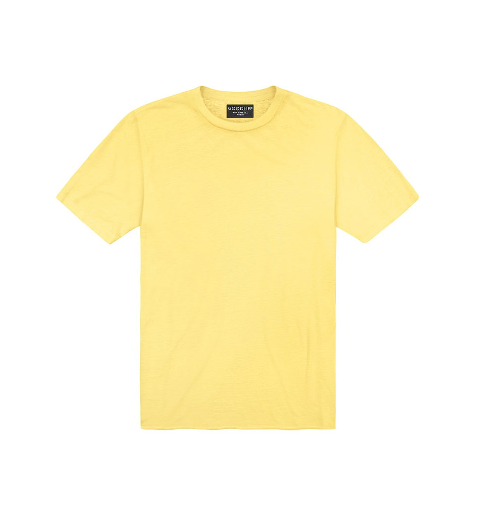 Linen Stripe Classic Crew | Empire Yellow