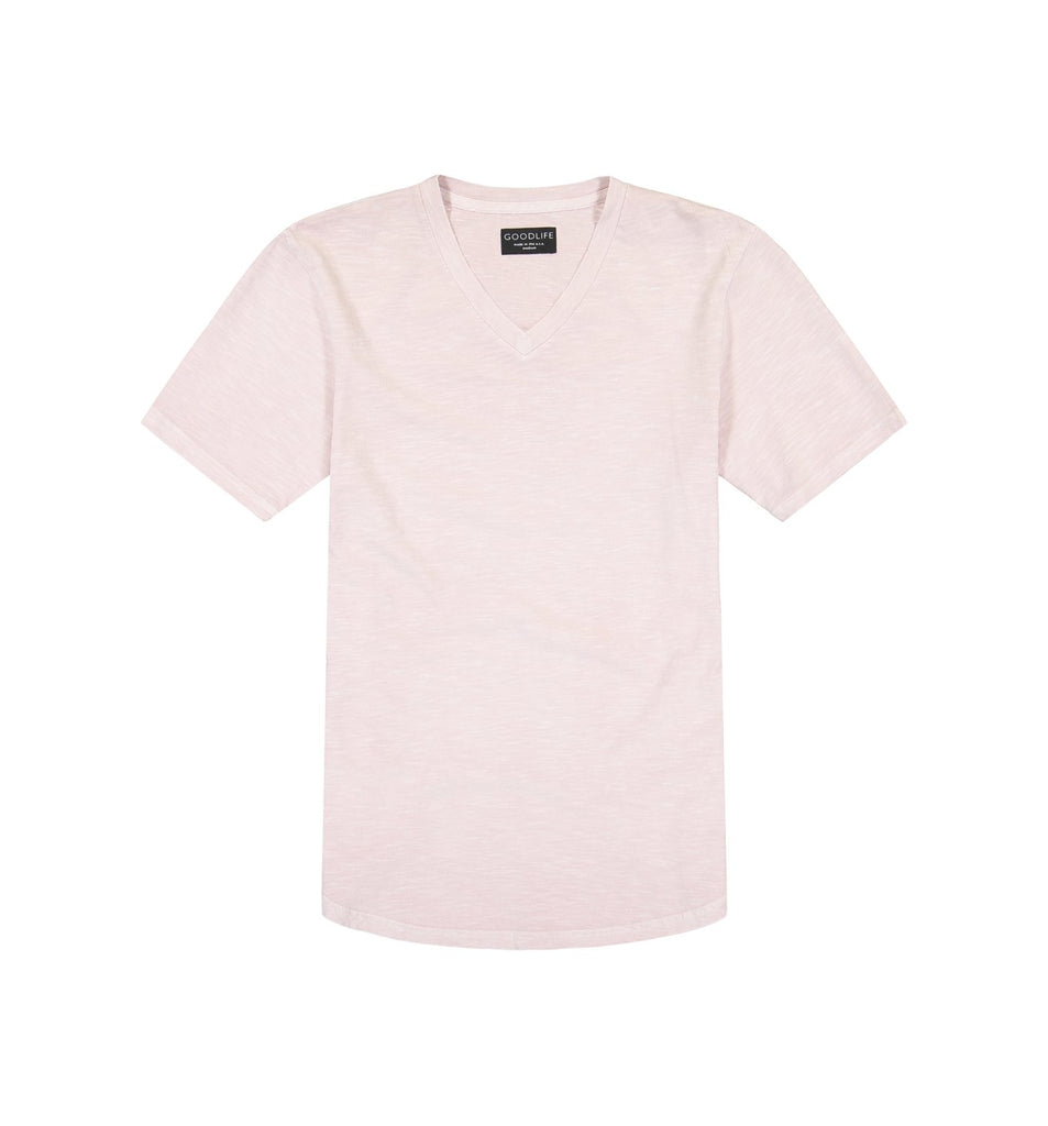 Sun-Faded Slub Scallop V | Pale Mauve
