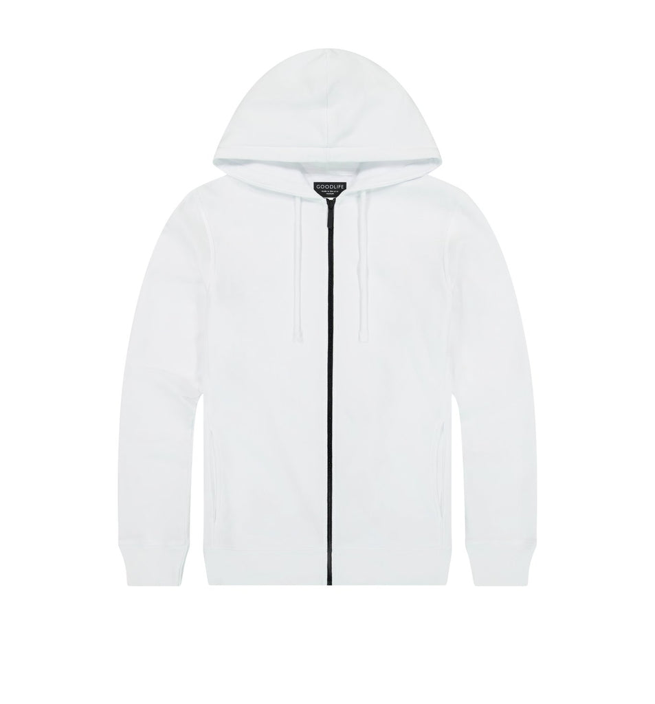 Loop Terry Zip Hoody | White