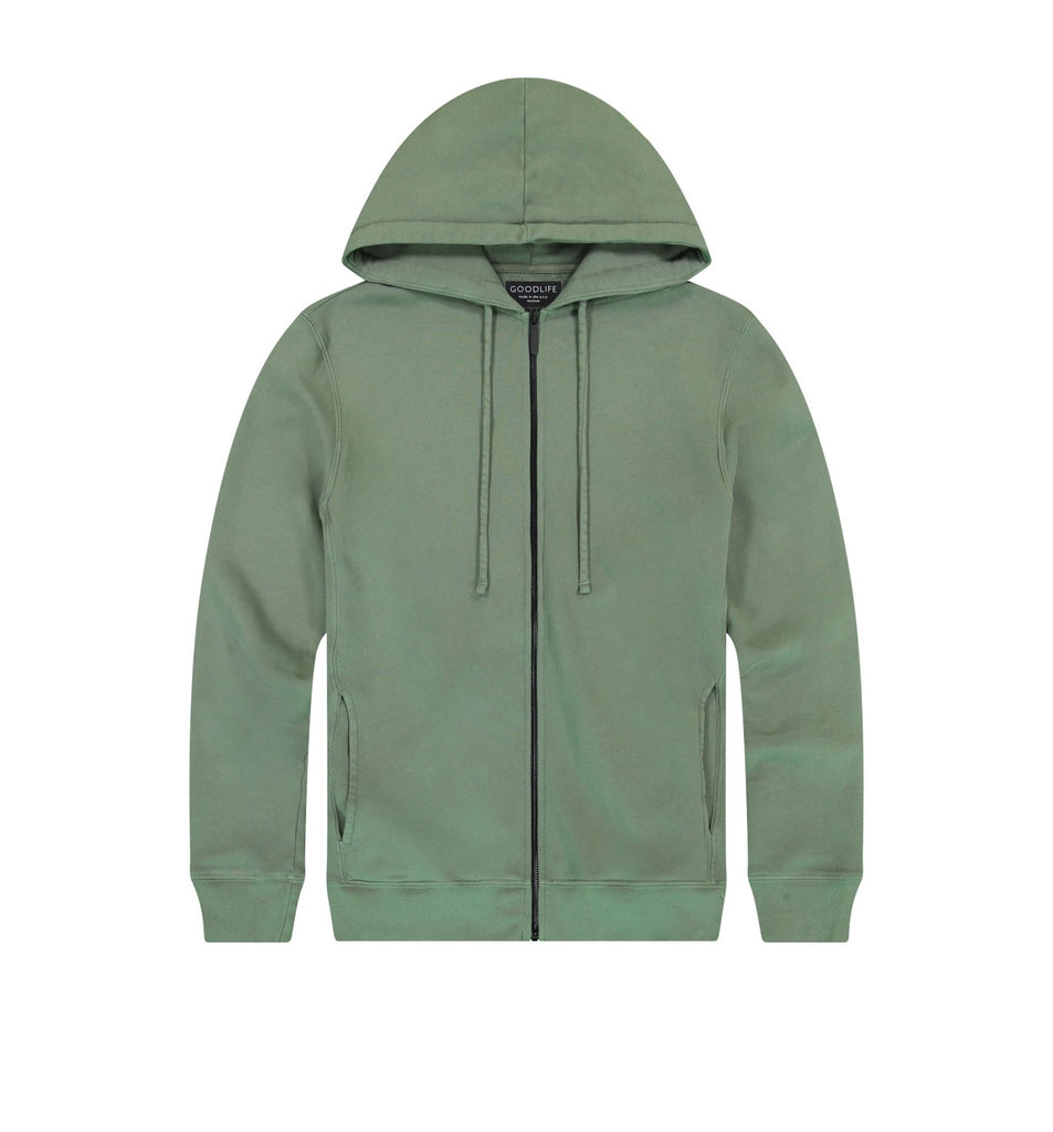 Loop Terry Zip Hoody | Laurel