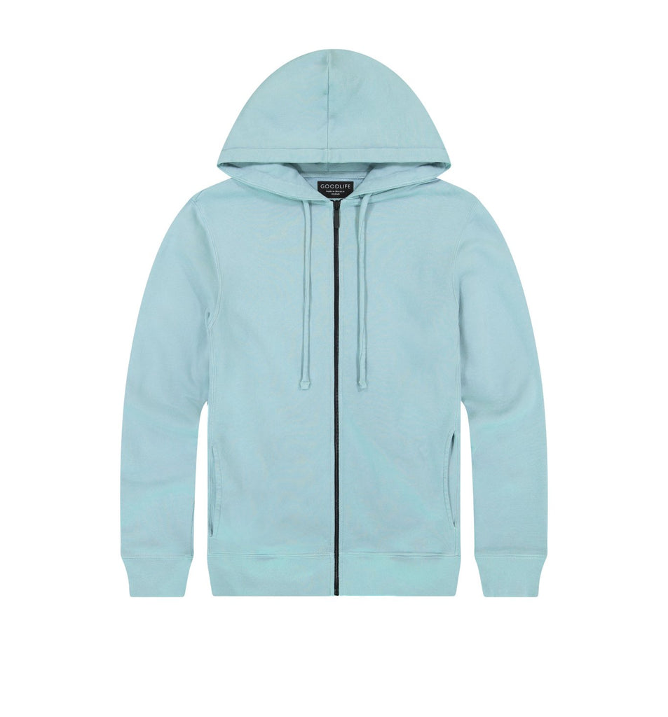 Loop Terry Zip Hoody | Cameo Blue