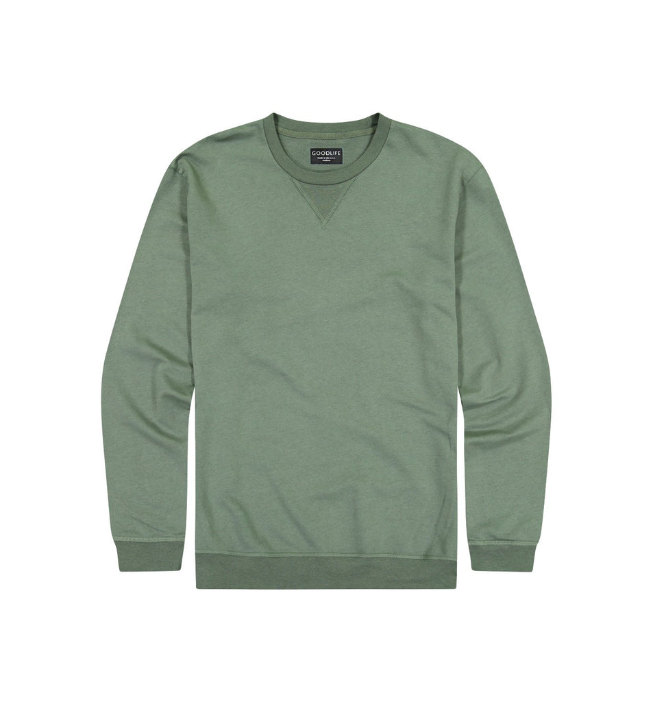 Overdyed Micro Terry Crew | Laurel