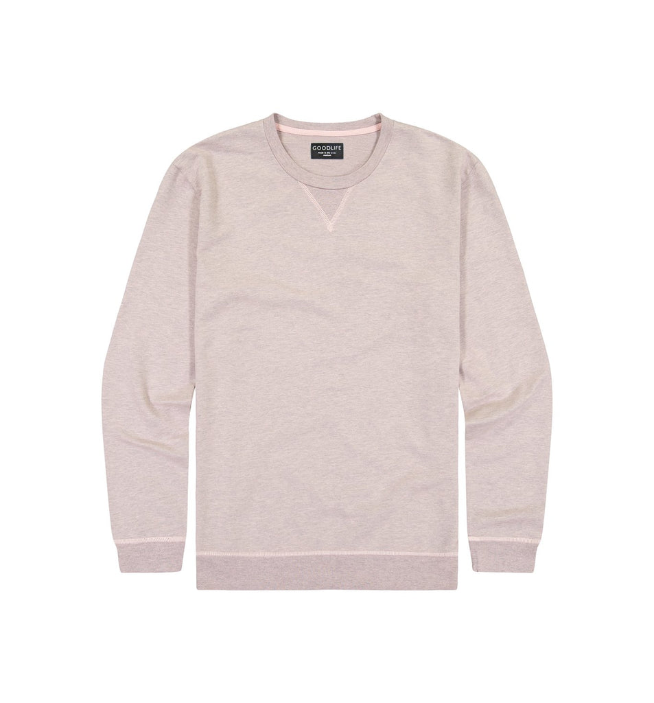 Overdyed Micro Terry Crew | Pale Mauve