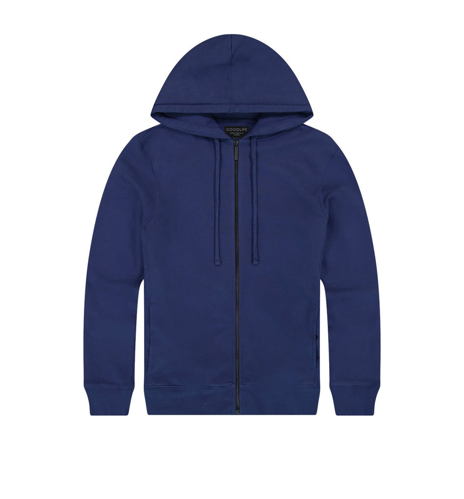 Loop Terry Zip Hoody | Goodlife Navy