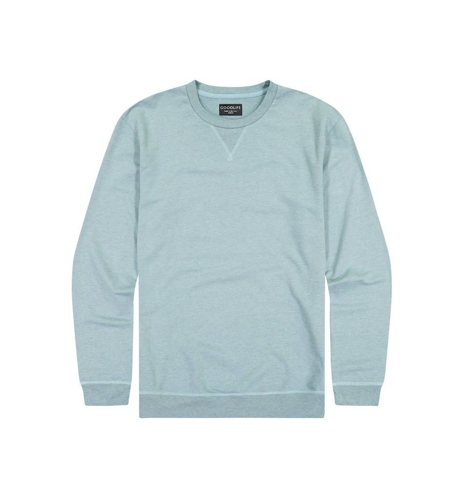 Overdyed Micro Terry Crew | Cameo Blue