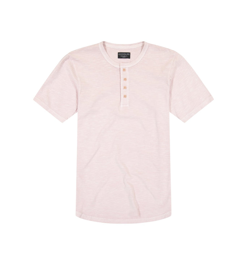 Sun-Faded Slub Scallop Henley | Pale Mauve
