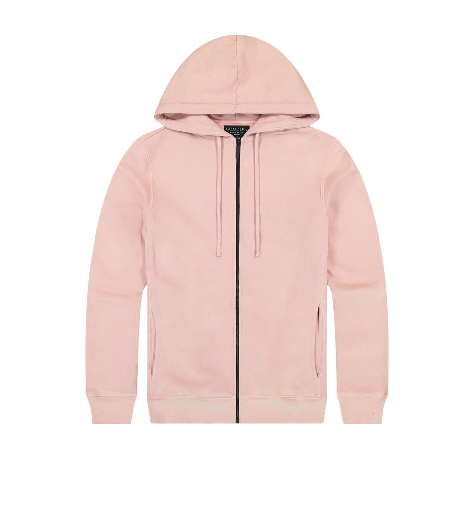 Loop Terry Zip Hoody | Pale Mauve