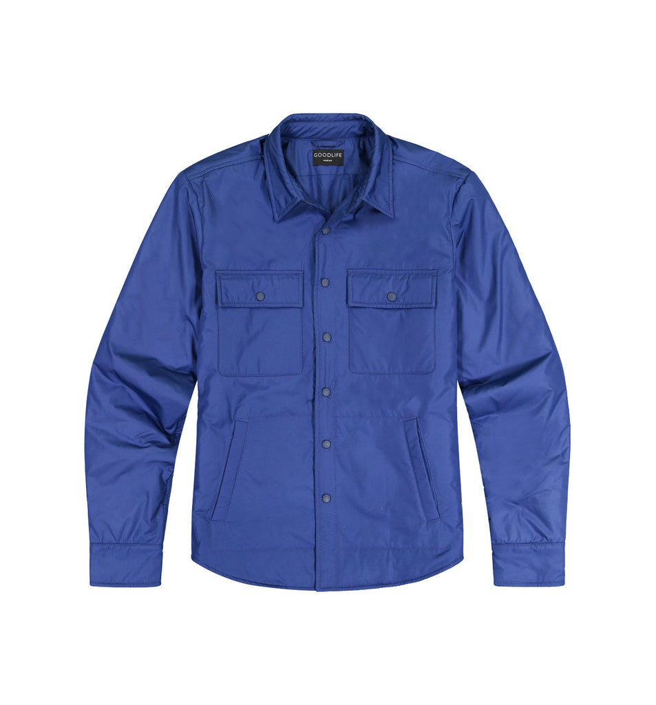 Packable Nylon Shirt Jacket | Goodlife Navy