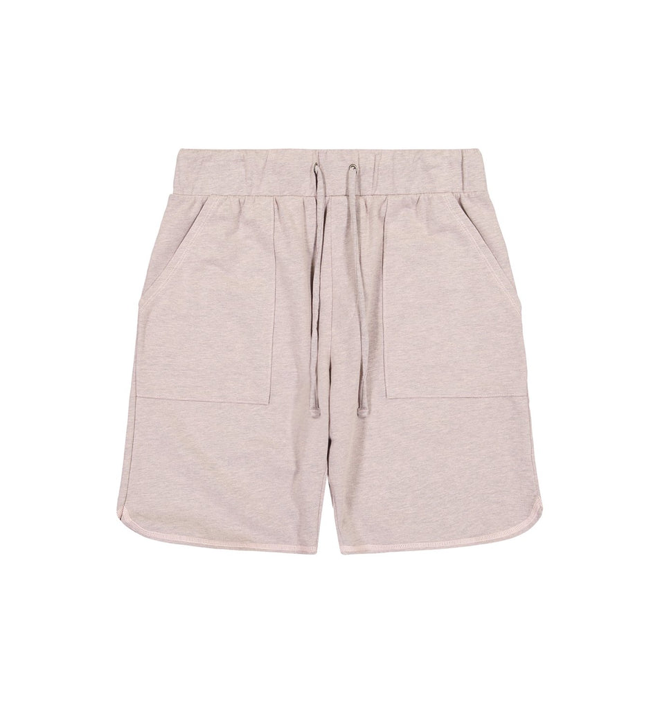 Overdyed Micro Terry Scallop Short | Pale Mauve