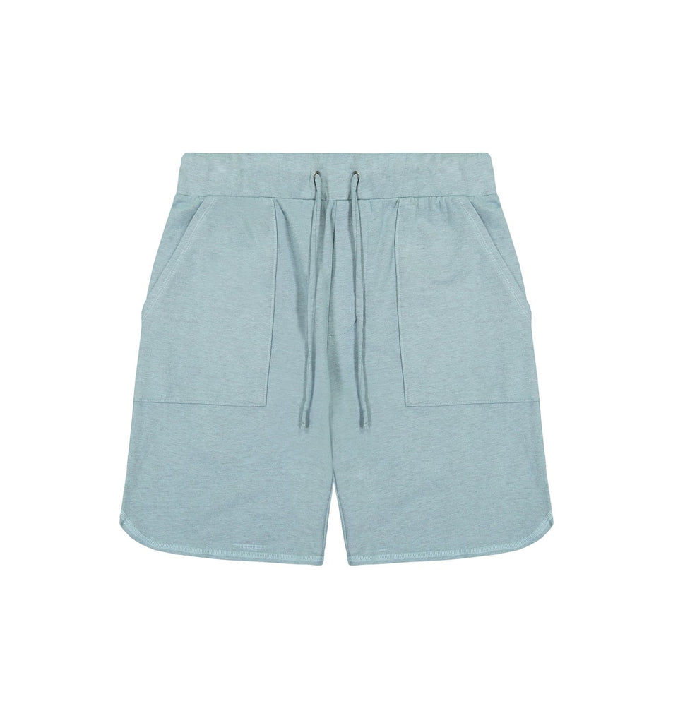 Overdyed Micro Terry Scallop Short | Cameo Blue