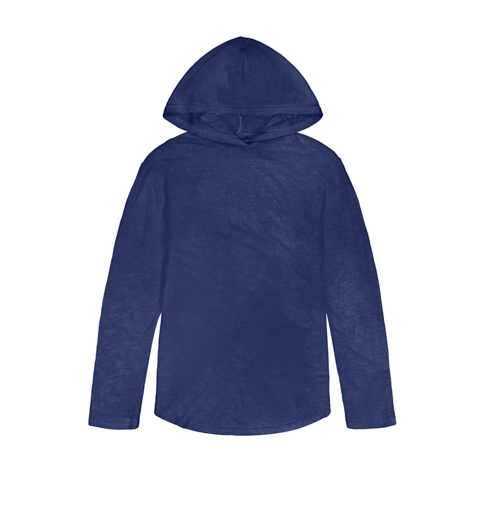 Double Layer L/S Scallop Hoody | Goodlife Navy