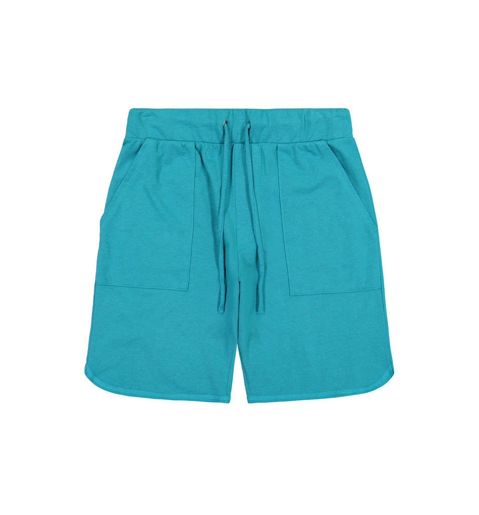 Overdyed Micro Terry Scallop Short | Enamel Blue