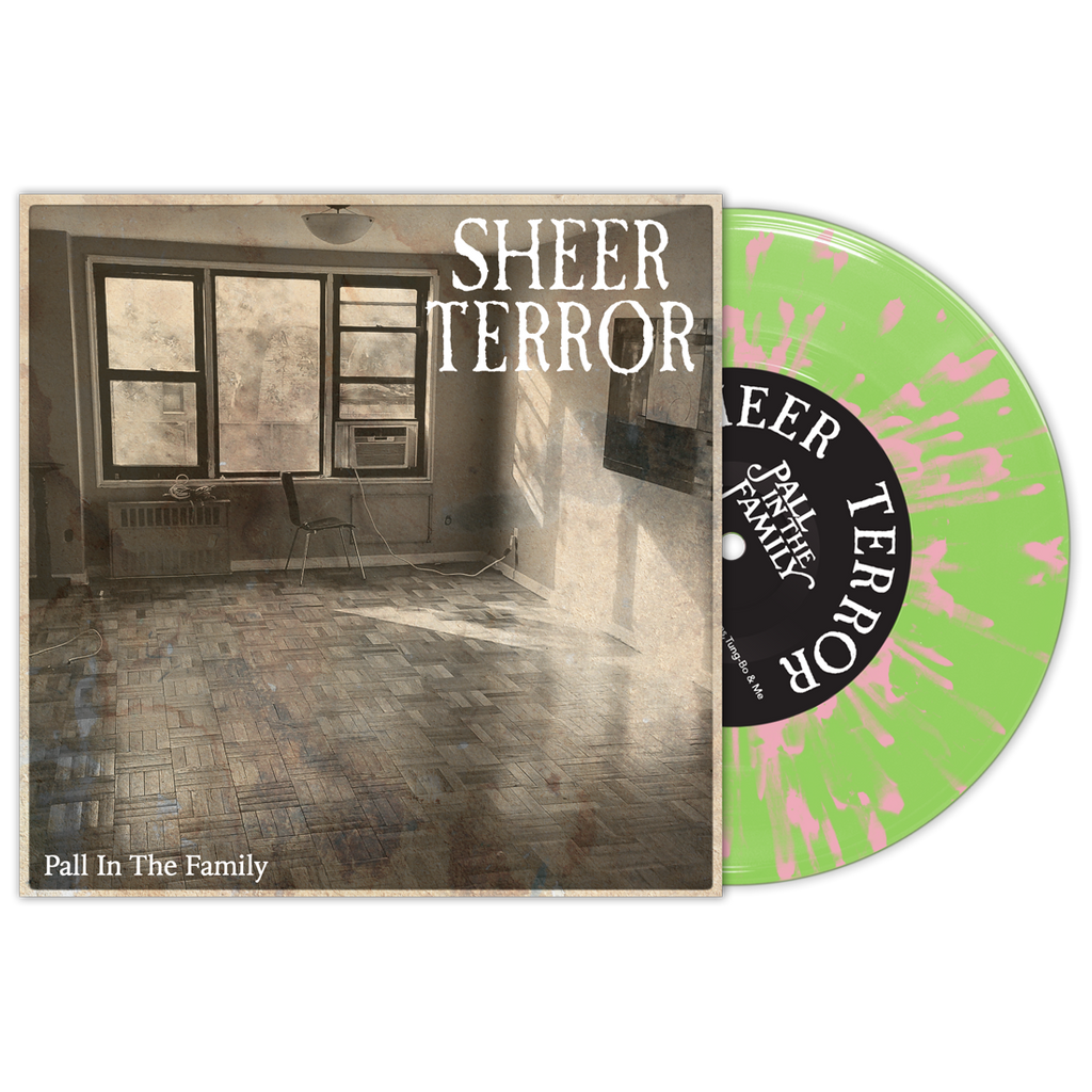 "Sheer Terror ""Pall In The Family"" 7"" Green/Pink"