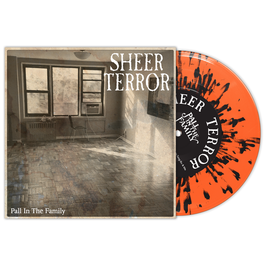 "Sheer Terror ""Pall In The Family"" 7"" Orange/Black"