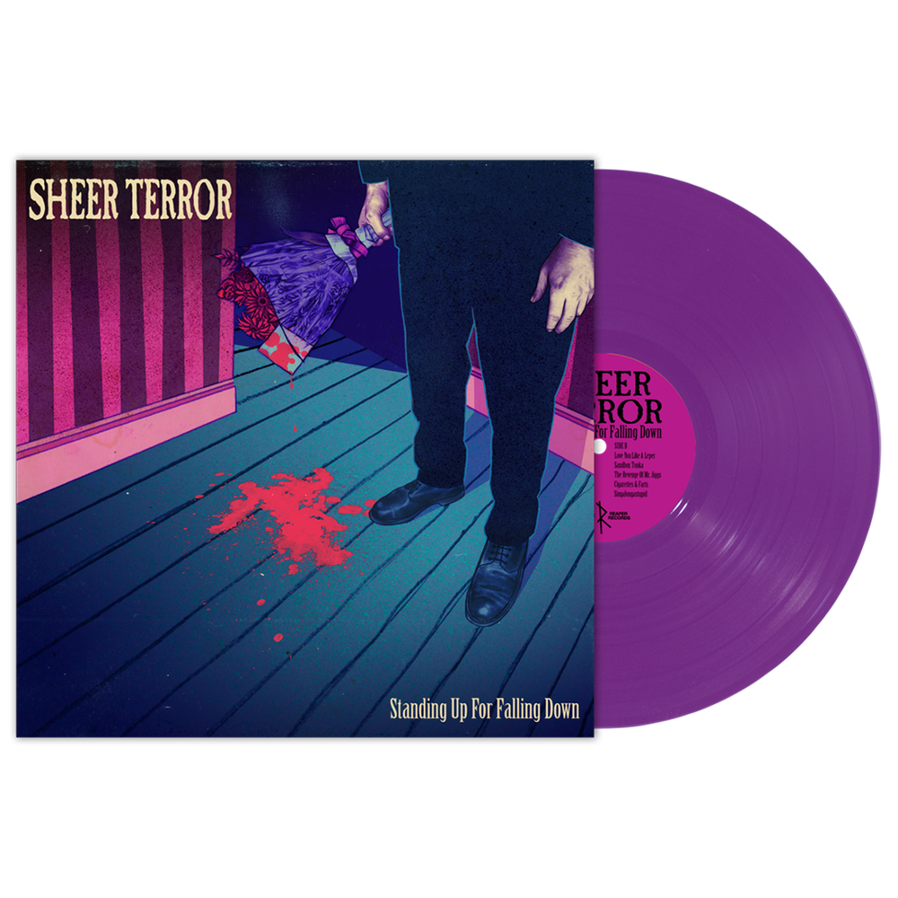 "Sheer Terror ""Standing Up For Falling Down"" LP Purple Vinyl"
