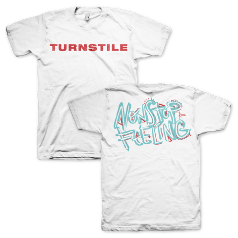 "Turnstile ""Nonstop Feeling"" White Tee"