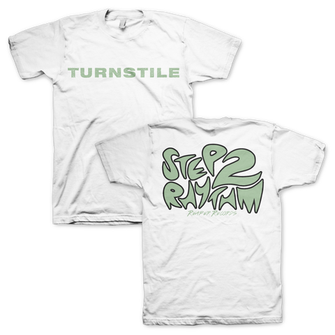 "Turnstile ""Step To Rhythm"" White TS"