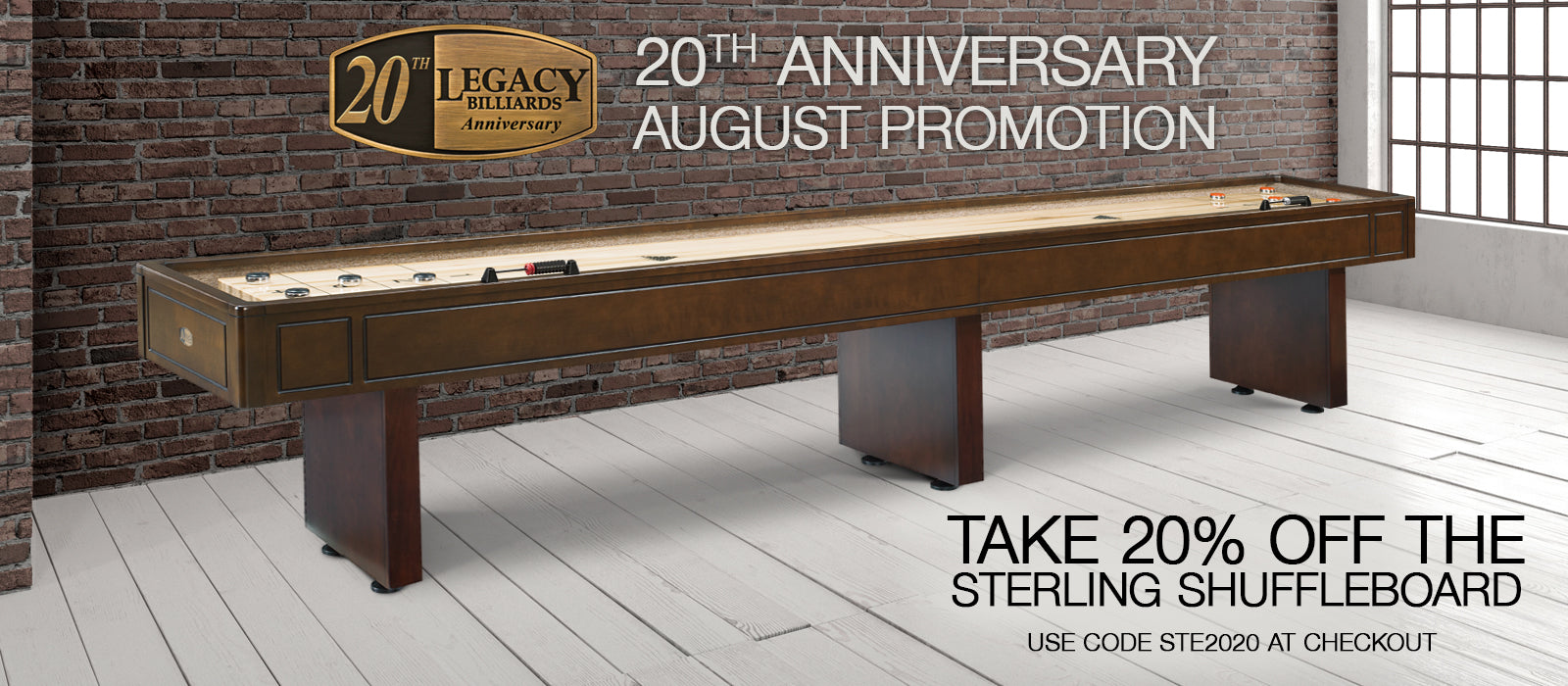August 2020 Monthly Promotion - Sterling 14 Ft Shuffleboard
