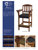 Classic Spectator Chair Spec Sheet