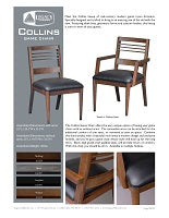 Collins Game Chair Spec Sheet