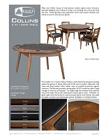 Collins Game Table Spec Sheet