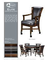 Elite Caster Game Chair Spec Sheet