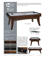 Ella Air Hockey Spec Sheet