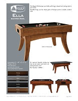 Ella Bumper Pool Spec Sheet