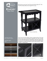 Emory Bar Cart Spec Sheet