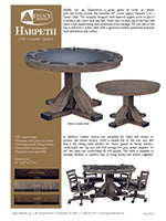 Harpeth Rustic Game Table Spec Sheet