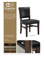 Rustic Game Chair Spec Sheet