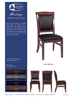 Heritage 3 in 1 Game Chair Spec Sheet