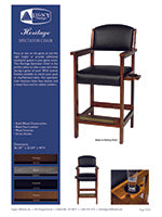 Heritage Spectator Chair Spec Sheet