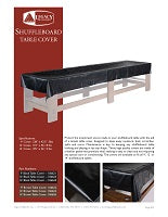 Shuffleboard Table Covers Spec Sheet