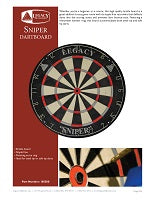 Sniper Dartboard Spec Sheet
