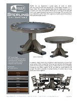 Sterling 2 in 1 Modern Game Table Spec Sheet