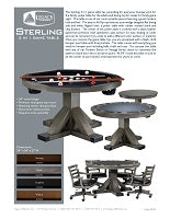 Sterling 3 in 1 Game Table Spec Sheet