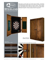 Sterling Dartboard Cabinet Spec Sheet