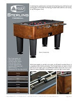 Sterling Foosball Spec Sheet