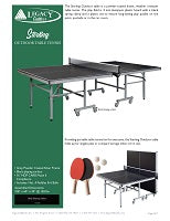 Sterling Outdoor Table Tennis Spec Sheet