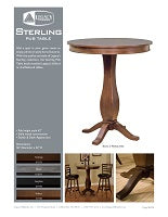 Sterling Pub Table Spec Sheet